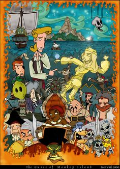 Curse of Monkey Island poster by Paco Vink