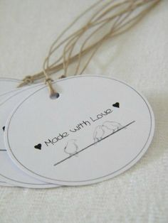 Etiquette 'Made with Love'