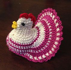 Crochet Pattern Decoration Easter Chicken Eggs by knitted4charm