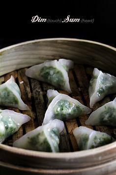 Glass-wrapper Shrimp Dumpling Dim Sum 韭菜蝦餃
