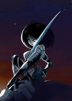 Manga and Stuff : Photo Manga Art, Manga Anime, Anime Art, Character Portraits, Character Art, Alita Battle Angel Manga, Girls Anime, Cyberpunk Art, Ghost In The Shell