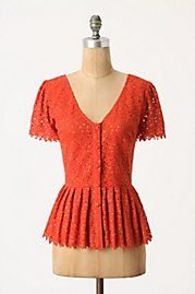 Eyelet Peplum Blouse. What about doing navy blue, hunter green, ivory for more fall-appropriate hues?