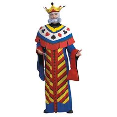 Playing Card King Halloween Costume for Men - Large
