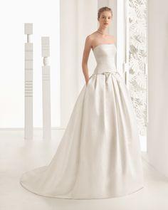 Neftis vestido de novia Rosa Clará 2017