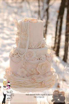 Vintage Wedding Cake Designs Pearl