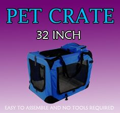 New Large Dog Pet Puppy Portable Foldable Soft Crate Playpen Kennel House  Blue -- Be sure to check out this awesome product.