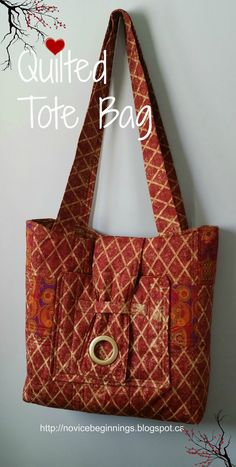 Novice Beginnings: QUILTED TOTE BAG FOR FALL