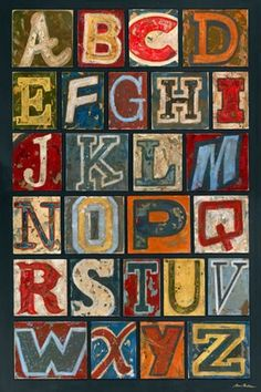 LOVING this vintage alphabet canvas! The bold colors will make any boys room come to life!  http://www.shopsugarbabies.com/