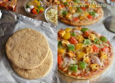 Whole Wheat Pizza Base Recipe - Homemade Pizza Dough Recipe