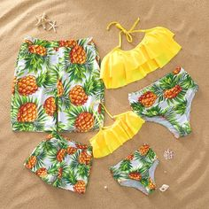 Check out this great stuff I just found at PatPat! Cute Summer Outfits, Outfits For Teens, Pretty Outfits, Cute Outfits, Summer Bathing Suits, Cute Bathing Suits, Pineapple Clothes, Best Friend Outfits, Mother Daughter Outfits