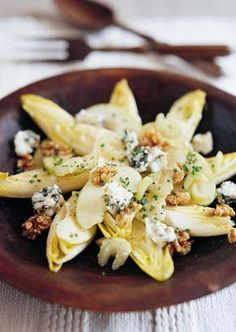 Raymond Blanc > Recipes > Roquefort, Walnut & Chicory Salad