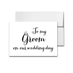 Wedding Card Black and White Peoni - To My Groom On Our Wedding Day - Instant Download Printable