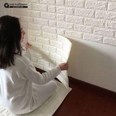 3D adesivos de parede parede de tijolo padrão de auto-adesivo papel de parede quarto sala decorativo à prova d' água anti-colisão Loja Online   aliexpress móvel