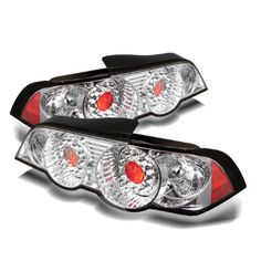 Acura RSX Chrome/Clear LED Taillights fit 2002, 2003, 2004