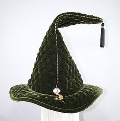 Quilted Wizard Hat Stretch Bands, Large Crystals, Toad, Crystal Ball, Cowboy Hats, Velvet, Google Search, Fashion, Moda