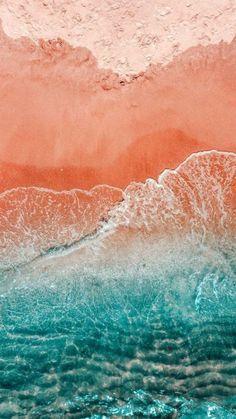 42 Ideas Nature Wallpaper Phone Sea Ocean For 2019 Beachy Wallpaper, Strand Wallpaper, Coral Wallpaper, Summer Wallpaper, Nature Wallpaper, Wallpaper Lockscreen, Mobile Wallpaper, Iphone Wallpapers, Beach Aesthetic