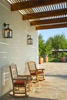 Rustic Mediterranean Ranch - mediterranean - porch - houston - Leedy Interiors