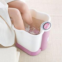 Foot & Leg Spa Bath Massager  FootSmart 30982FMS at SkyMall - Wonderful Gift for a Girl!