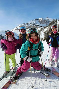 Youngsters @ Jackson Hole. Take a kid skiing and they will learn to seek great adventure!