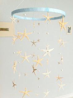 Sea Stars and Pearls mobile/hanging decoration(baby-neutral-boy, girl)Wedding, party decoration. $52.00, via Etsy.