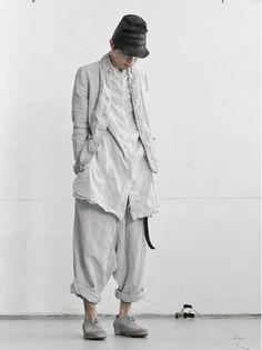 Visions of the Future // MEN DESIGNER :: PAL OFFNER :: 16SS :: PAL OFFNER Linen Jacket / GREY