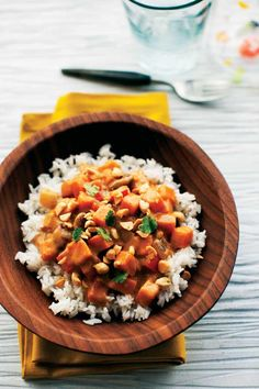 Vegan Recipe: African Sweet Potato and Peanut Stew. I make this often, this stew is delicious. The whole house smells wonderful while its cooking! ;)