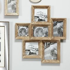 Rustic Picture Frames, Hanging Picture Frames, Picture Frame Sets, Collage Picture Frames, Hanging Pictures, Picture On Wood, Family Photo Frames, Picture Walls, Wall Collage