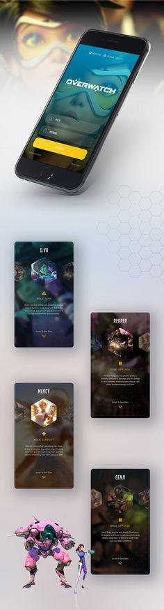 Overwatch Companion App on Behance
