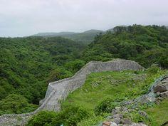 Nakijin Castle wall - Okinawa, Japan
