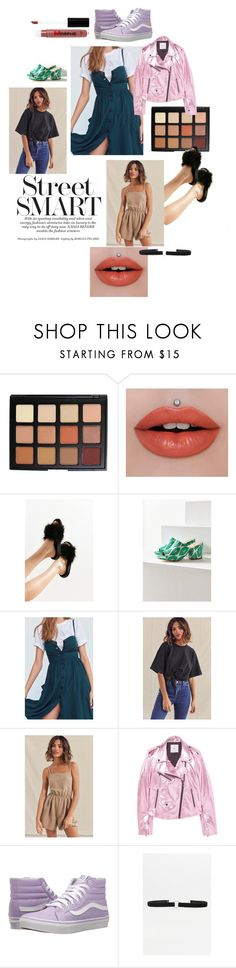 """Street smart"" by emma-leeman ❤ liked on Polyvore featuring Morphe, Jeffree Star, Urban Outfitters, Cooperative, Urban Renewal, MANGO and Vans"