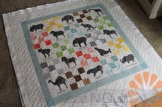 Piece N Quilt: Animal Crackers Quilt - Custom Machine Quilting by Natalia Bonner