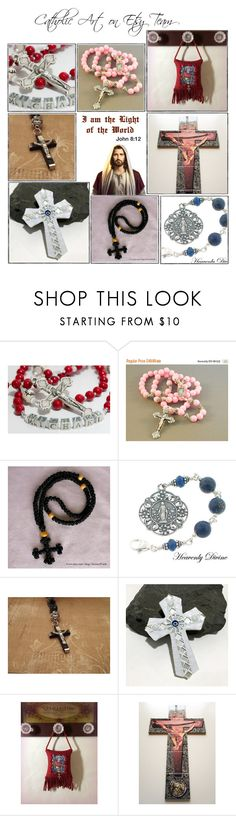 """""""Religious Art on Etsy by TerryTiles2014 - Volume 331"""" by terrytiles2014 ❤ liked on Polyvore featuring interior, interiors, interior design, home, home decor, interior decorating, etsy, art, catholic and religious"""
