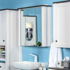 Dulapul Antwerpen vă pune la dispoziție un loc în plus pentru depozitare, oferindu-vă posibilitatea de a avea în permanență o baie organizată și practic amenajată. #mobexpert #mobilierbaie #sanitare #reducere Mirror, Bathroom, Furniture, Design, Home Decor, Washroom, Decoration Home, Room Decor, Mirrors
