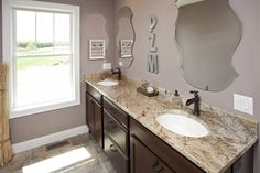 Designed by The Cabinet Store, this vanity features our Breckenridge door in cherry Coffee. Keep up the talented designs in Minnesota!  Learn more about The Cabinet Store: http://www.thecabinetstore.com/ Learn more about Showplace cherry: http://www.showplacewood.com/WoodsFin2/woodsC.0.html