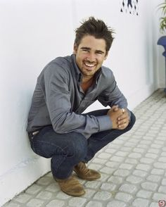 Colin Farrell... that smile! I feel like he'd give Luke Bryan a run for his money!