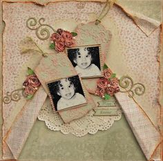 Treasuring Memories: A card and a page with Maja Design & Scrapmatts chipboards