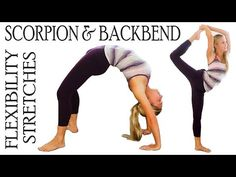 20 Minutes ▶ Flexibility Stretch Exercises Workout for Scorpion & Back Bends For Ballet, Dance & Cheerleading - YouTube
