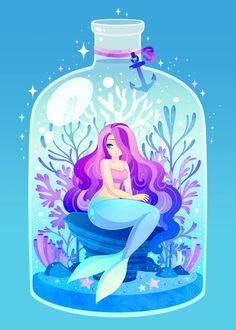 Mermaid Art by Brogan Coral Arte Coral, Coral Art, Mermaid Artwork, Mermaid Drawings, Mermaid Wallpapers, Mermaid Illustration, Illustration Art, Mermaids And Mermen, Merfolk