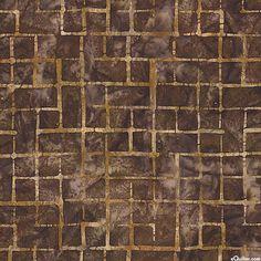 Allegro 2 - Square Labyrinth Batik - Coffee Brown