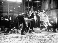 Jackson Pollock y Lee Krasner, 1950. Foto de Hans Namuth.