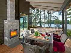 Available property in Ähtäri, Finland. Their place. But it's YOUR price. Only at www.tansler.com #european #vacation #rentals #fireplace #porch #lake #mountains #dining #design #finland
