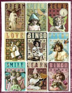 Altered art bingo cards