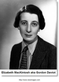 Josephine Tey was a pseudonym of Elizabeth Mackintosh (July 25, 1896–February 13, 1952), a Scottish author best known for her mystery novels.  The hero was Scotland Yard Inspector Alan Grant; the most famous of them is The Daughter of Time, in which Grant, laid up in the hospital, has friends research reference books and contemporary documents so he can puzzle out the mystery of whether King Richard III of England murdered his nephews, the Princes in the Tower.