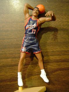 e732905a8 1996 Karl Malone USA Olympic Team Kenner Starting Lineup - Loose  Kenner