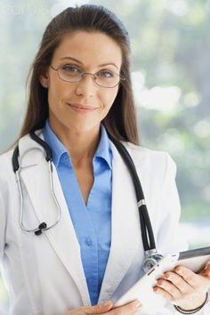Portrait of female doctor wearing lab coat