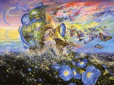 Maybe it's not a normal rainbow but the sky is so beautiful... by Josephine Wall
