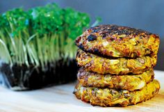 Lentil Burgers --- (Going to have to try these, someday.. They look gorgeous!)