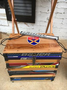 Your place to buy and sell all things handmade Coolest Cooler, Hockey, Recycling, Basket, Diy Projects, Make It Yourself, Holiday, Gifts, Handmade