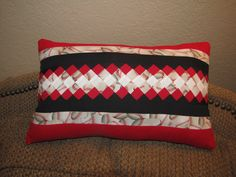 Small pillow I made using Seminole Patchwork