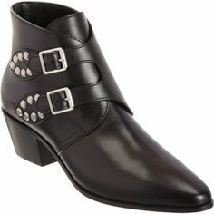 Saint Laurent Studded Double Monk Ankle Boot at Barneys.com